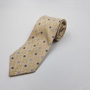 Stafford pearl blue silk handmade mens dress tie